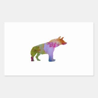 Hyena Rectangular Sticker