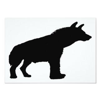 hyena silhouette card