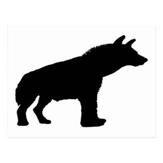 hyena silhouette postcard