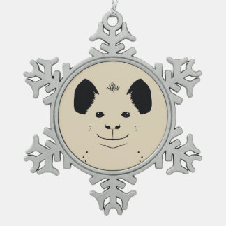hyena snowflake pewter christmas ornament