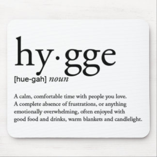 Hygge Definition Mouse Pad
