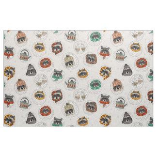hygge raccoons fabric