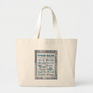 Hygge Rules Large Tote Bag