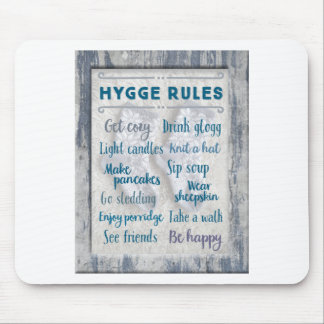 Hygge Rules Mouse Pad
