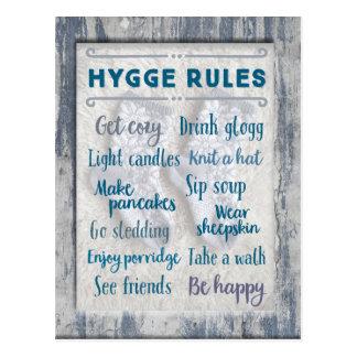 Hygge Rules Postcard