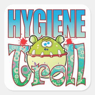 Hygiene Troll Square Sticker