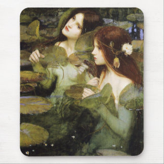 Hylas and the Nymphs detail by John W. Waterhouse Mouse Pad