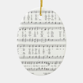 Hymn - O Come All Ye Faithful Ceramic Ornament