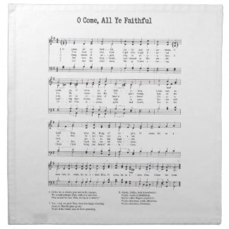 Hymn - O Come All Ye Faithful Napkin