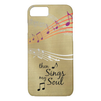 Hymn: Then Sings my Soul Quote iPhone 8/7 Case