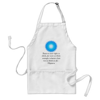 Hypatia Quote about freedom of thought Standard Apron