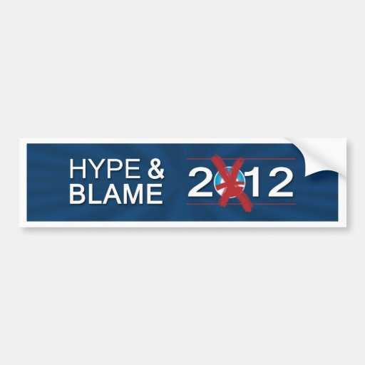 Hype and Blame 2012 Bumper Sticker (Navy)