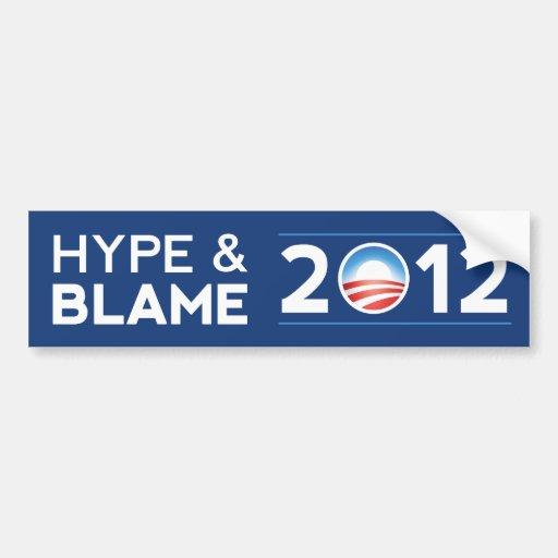 Hype & Blame Bumper Sticker