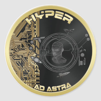 """Hyper Coin Stickers - Sheet of (6)3"""" or (20)1.5"""""""