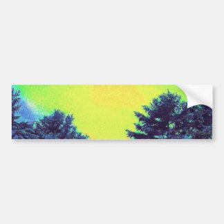 Hyper Color Winter Bumper Sticker