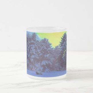 Hyper Color Winter Frosted Glass Mug