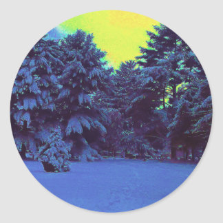 Hyper Color Winter Round Sticker