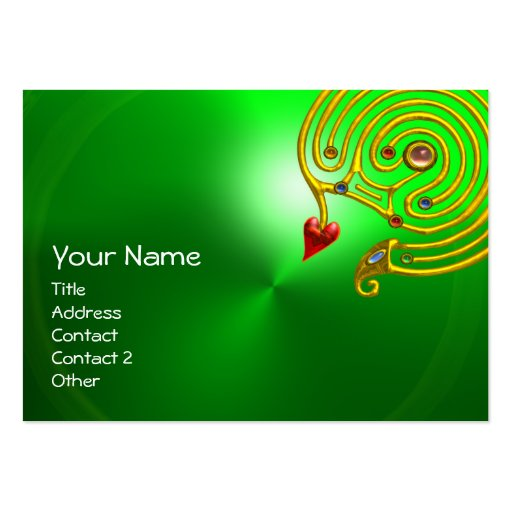 HYPER LABYRINTH EMERALD ,red yellow green Business Card
