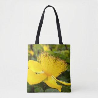 Hypericum Calcyinum All Over Print Tote Bag