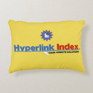Hyperlink Index Accent Pillow Brushed Polyester