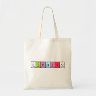 Hyperstar periodic table name tote bag