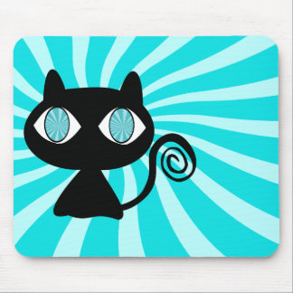 Hypno Cat with Too Much Catnip Mouse Pad