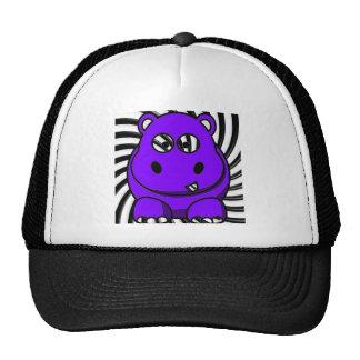 Hypno Hippo Purple Trucker Hats