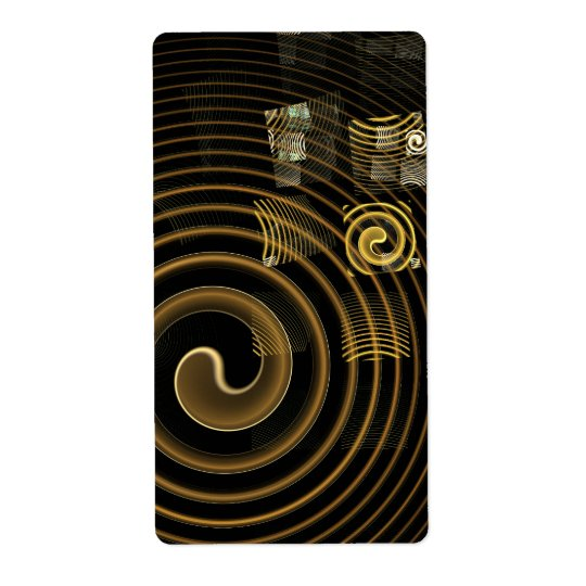 Hypnosis Abstract Art Fractal Shipping Label
