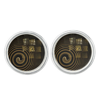 Hypnosis Abstract Art Silver Plated Cufflinks