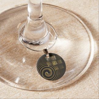Hypnosis Abstract Art Wine Charm