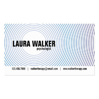 Hypnosis Circles - Blue Pack Of Standard Business Cards