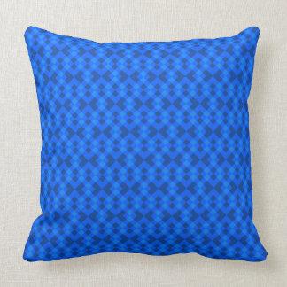 Hypnotic Blue Throw Pillow