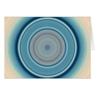 Hypnotic Circle Aqua White Card