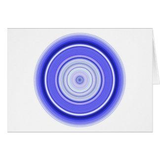Hypnotic Circle Blue White Card