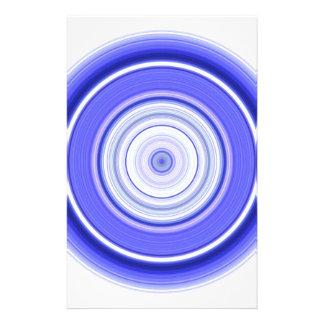 Hypnotic Circle Blue White Stationery
