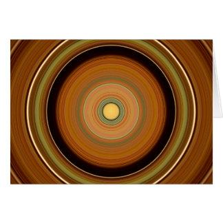 Hypnotic Circle Brown Card
