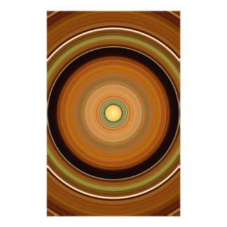 Hypnotic Circle Brown Stationery