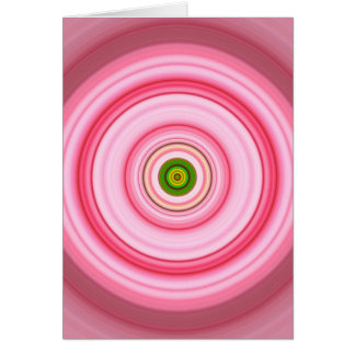 Hypnotic Circle Fuchsia Green Card
