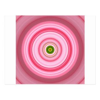 Hypnotic Circle Fuchsia Green Postcard
