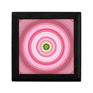 Hypnotic Circle Fuchsia Green Small Square Gift Box