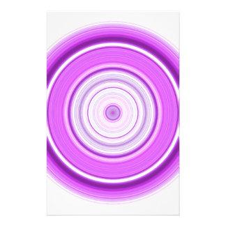 Hypnotic Circle Purple Custom Stationery