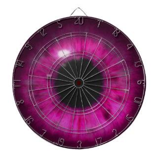 Hypnotic Deep Purple eyes Dartboard With Darts