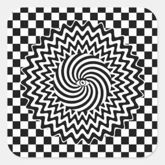 Hypnotic eye square sticker