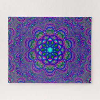 Hypnotic Fractal | Colorful Mandala Jigsaw Puzzle
