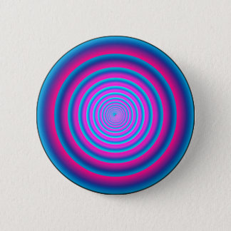 Hypnotic Fuzzy Purple Crazy Circular Vortex Disc 6 Cm Round Badge