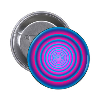 Hypnotic Fuzzy Purple Crazy Circular Vortex Disc 6 Cm Round Badge