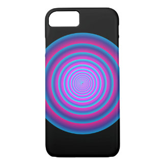 Hypnotic Fuzzy Purple Crazy Circular Vortex Disc B iPhone 8/7 Case