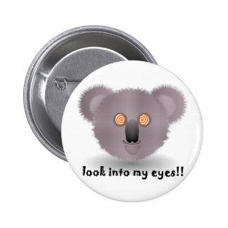 hypnotic koala bear 6 cm round badge