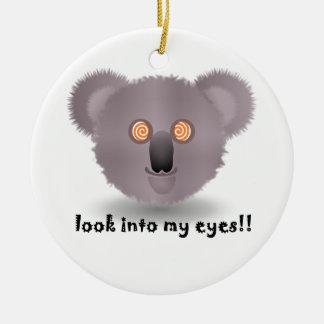 hypnotic koala ceramic ornament