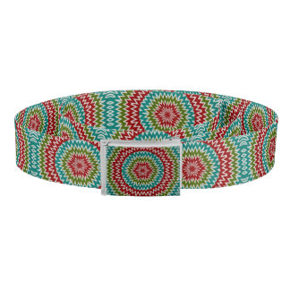 Hypnotic mandalaic flower belt